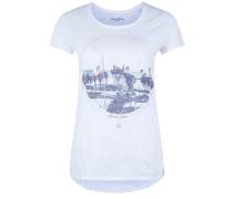 Shirt 'LA Beach' mischfarben / weiß