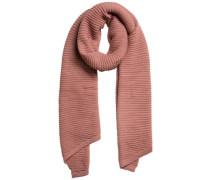 Langer gestrickter Schal altrosa