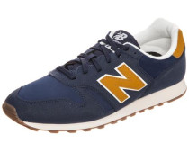 Sneaker dunkelblau / goldgelb