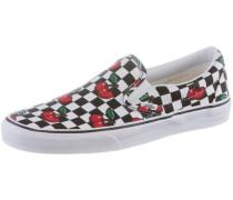 Schuh Classic Slip On grün / rot / schwarz / weiß
