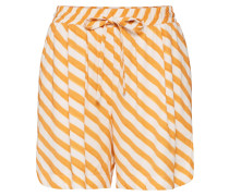 Shorts 'nubrenda' orange / weiß