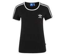 T-Shirt 'Sandra' schwarz / weiß