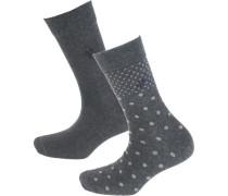 Marla 2 Paar Socken grau