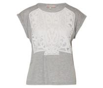 Shirt 'Fratello' grau / weiß