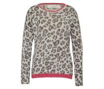 Pullover 'leo' grau / pink
