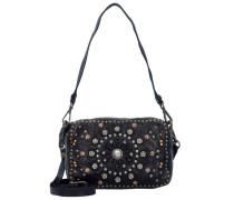 Bauletto Mini Bag Umhängetasche Leder 18 cm schwarz