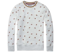 Sweatshirt »All-Over Printed CN HWK L/s« graumeliert