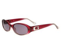 Sonnenbrille himbeer / transparent