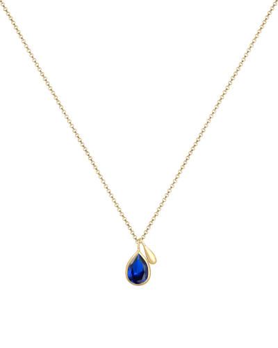 Halskette 'Tropfen' blau / gold