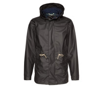 Parka 'rubber coated quality' schwarz