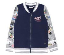 Sweatshirt mit Reißverschluss nitsimon dunkelblau / mischfarben / rot