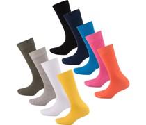 Online Unisex cotton Socks 9p mischfarben