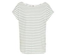 Shirt 'Bell Stripe' grün / weiß