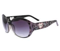 Sonnenbrille Schwarz grau / lila / schwarz