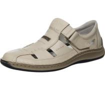 Weite Sandalen creme