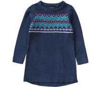 Kinder Strickkleid blau / mischfarben