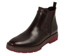 Chelsea Boots mit Mustermix bordeaux