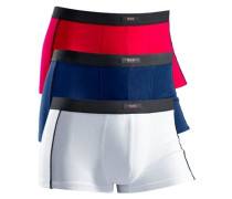 Boxer (3 Stck.) blau / rot / weiß