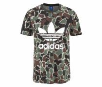 T-Shirt 'camo Trefoil T' khaki