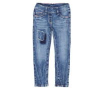 Treggings: Jeans mit Patch blue denim