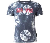 T-shirt 'Ecorse' nachtblau / weiß