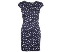 Feminines Kleid mit kurzen Ärmeln blau