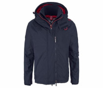 Winterjacke 'hooded Arctic Windcheater' navy / rot