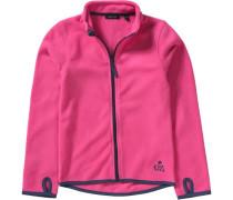 Fleecejacke für Mädchen dunkelblau / pink