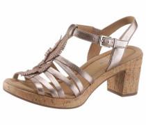 Sandalette hellbeige / rosegold