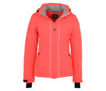 Wintersportjacke 'Nanda' orange / schwarz