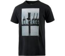 Home Printshirt Herren schwarz / weiß