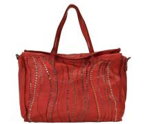 Sughero Shopper Tasche Leder 39 cm rot