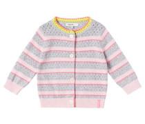 Strickjacke 'Faedis' gelb / grau / rosa