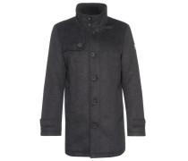 Coat Wollmantel mit gestepptem Futter schwarzmeliert