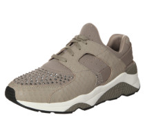 Sneaker 'Mood' mit Nieten-Applikationen taupe