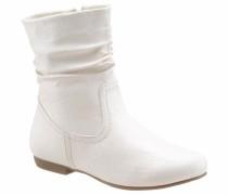 Stiefelette braun / weiß