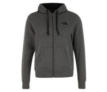 Sweatjacke 'Open Gate' graumeliert
