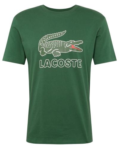 Shirt 'tee-Shirt' dunkelgrün / schwarz