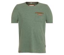T-Shirt 'Suppenkasper Vii' grünmeliert