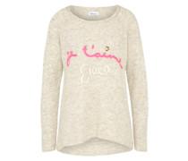 Pullover mit Print beige