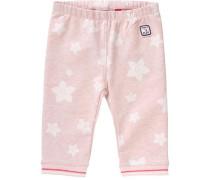 Baby 3/4-Sweatleggings für Mädchen pink / rosa / naturweiß