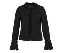 Jacke mit Ärmelvolants schwarz