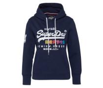 Sweatshirt 'Premium Goods' nachtblau / mischfarben / weiß