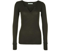 Basic mit Split-Neck 'Lisbon' tanne