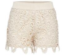 Spitzen-Shorts beige