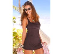 Badeanzug-Kleid dunkelbraun