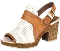 Sandaletten beige / weiß