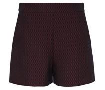 Jacquard-Shorts mit Wabenmuster rot