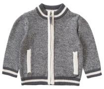 Baby Strickjacke für Jungen grau