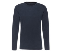 Langarmshirt im Used-Look 'Yoshi' marine